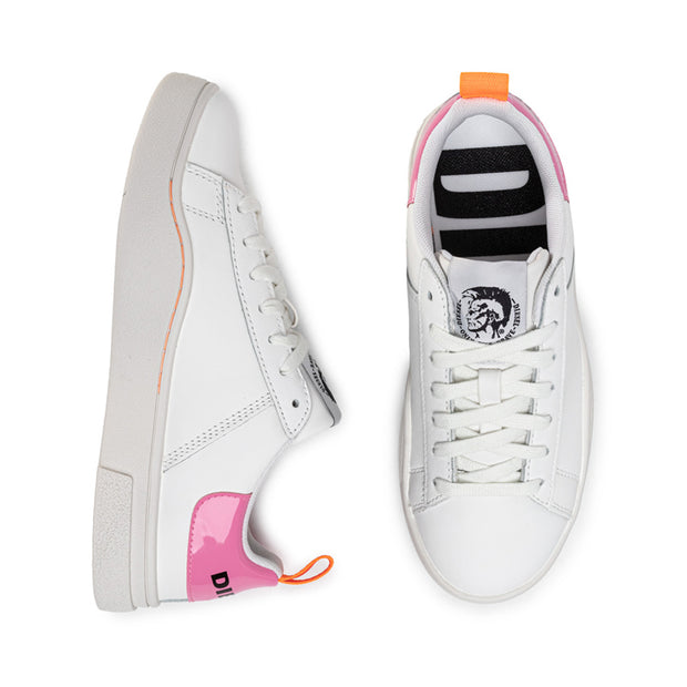 Womens S-Clever Low - White/Fluo Pink H7787