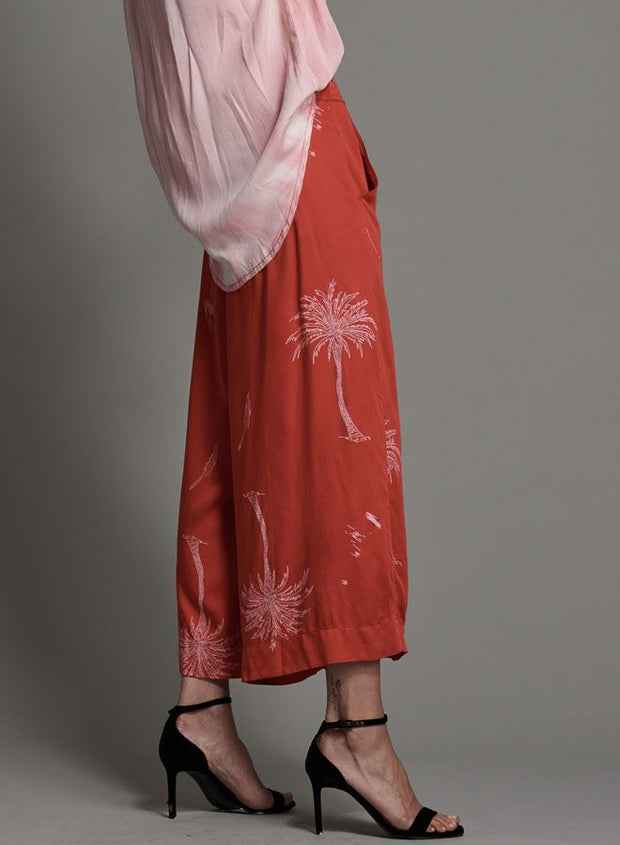 Valley Cropped Pant - Red Antigua