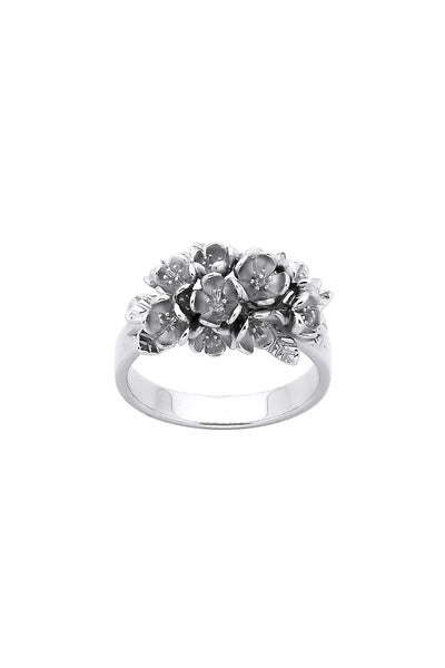 KW Flower Cluster Ring Silver
