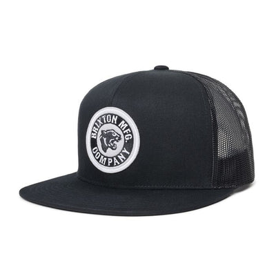 Brixton Rival Forte MP Mesh Cap - Black/Aluminium shop online or in store at IKON