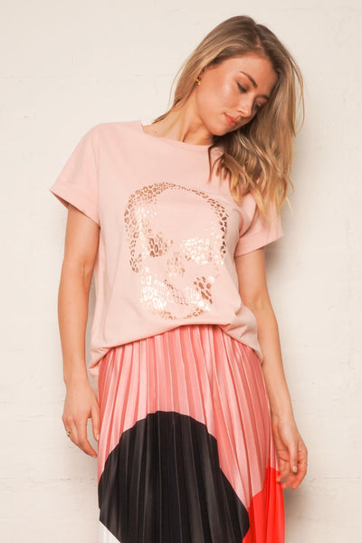 The Relaxed Tee - Pink/Foil Skull | Shop The Others at IKON NZ