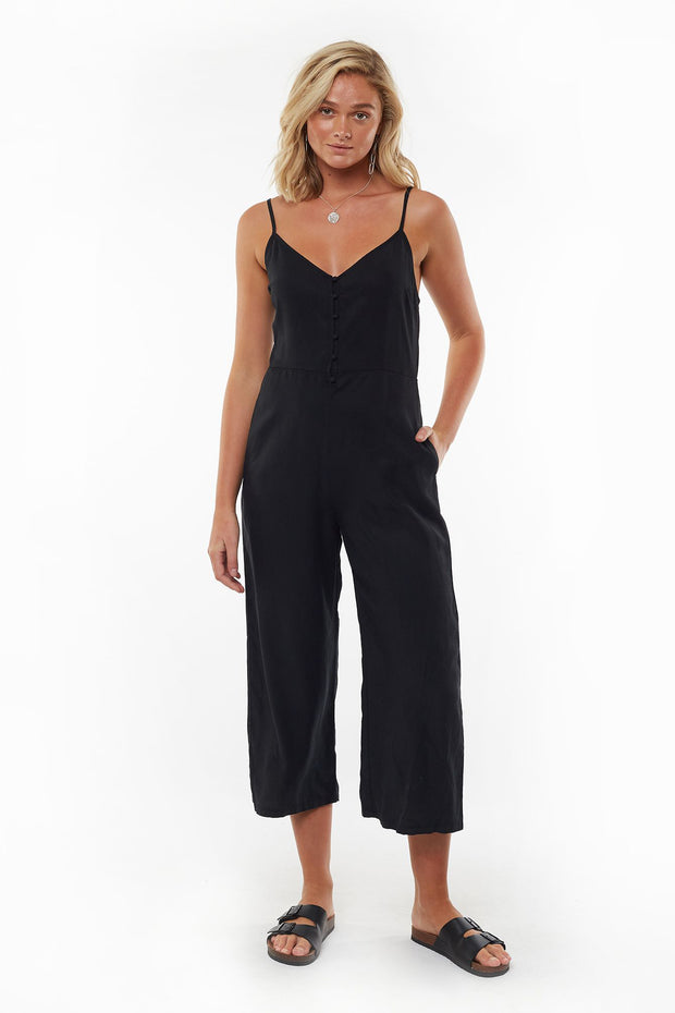 Nina Washed Jumpsuit - Black | Shop All About Eve at IKON NZ