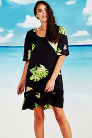 Cooper Happy Hour Dress Black Floral  | shop Cooper at IKON, Arrowtown, NZ