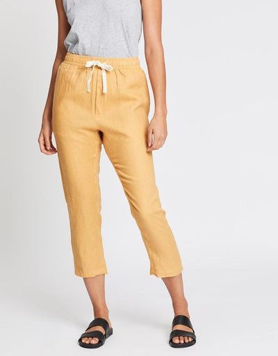 Anya Linen Pant - Amber shop online or in store at IKON