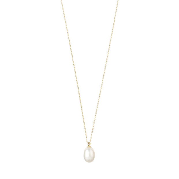 Eila Pi Necklace - White/Gold Plated | Shop Pilgrim Jewellery, IKON NZ