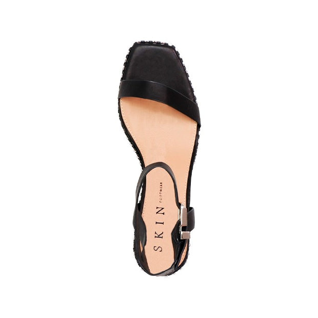 Jace Sandal - Black Leather