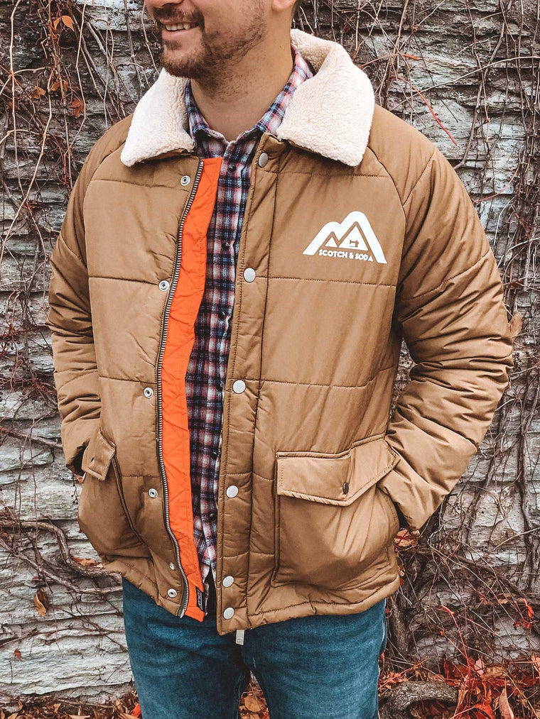 Men's Padded Jacket | Shop Scotch and Soda online at IKON Arrowtown NZ