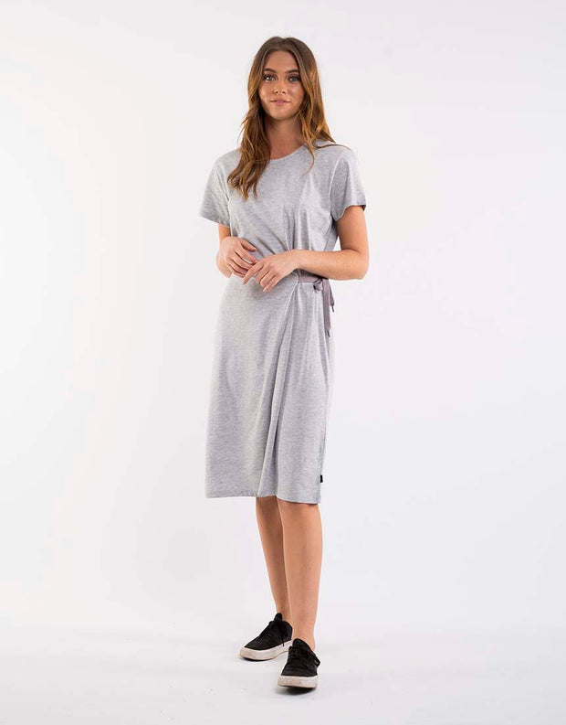 Wrap Up Dress - Grey Marle