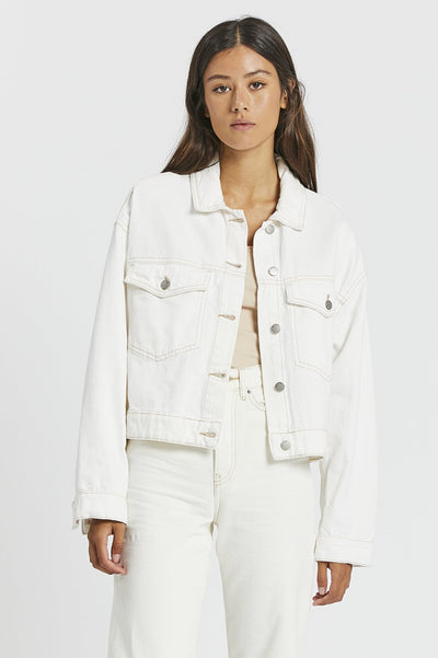 Khalila Cropped Jacket - Light Ecru | Shop Dr Denim at IKON NZ