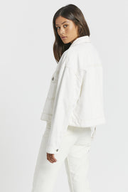 Khalila Cropped Jacket - Light Ecru