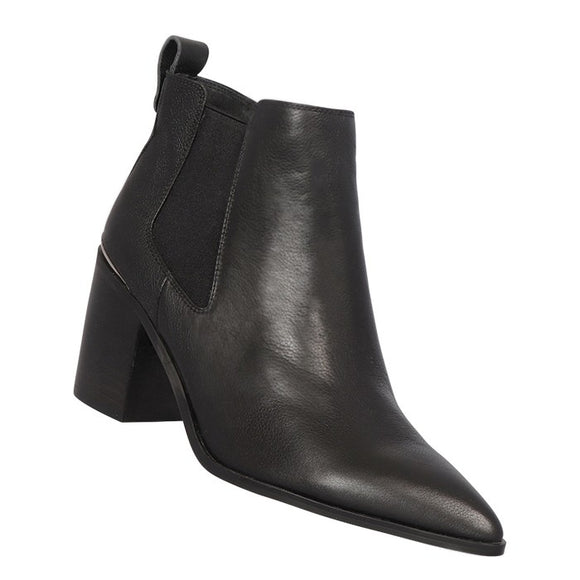 Khloe Boot Black Leather | Shop Nude Footwear at IKON Arrowtown NZ