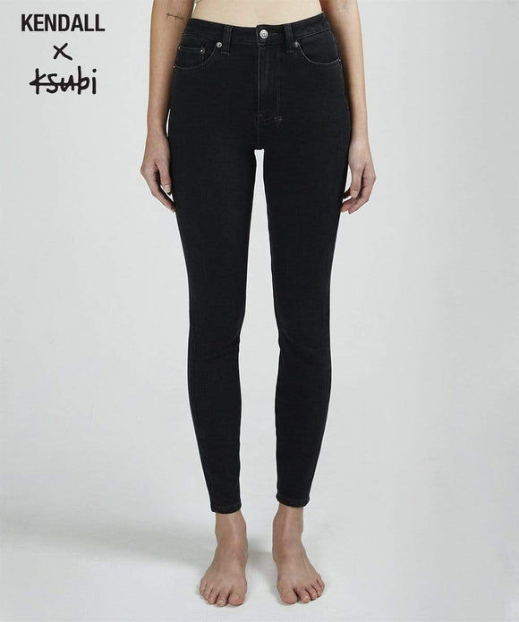 Womens Hi N Wasted Jean - Noir Flash