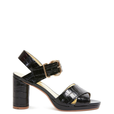 Ginger Heel Black Croc | Shop Miss Wilson Online at IKON Arrowtown NZ