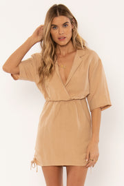 Lara Woven Dress - Amaretto | Shop Amuse Society at IKON in Arrowtown, NZ