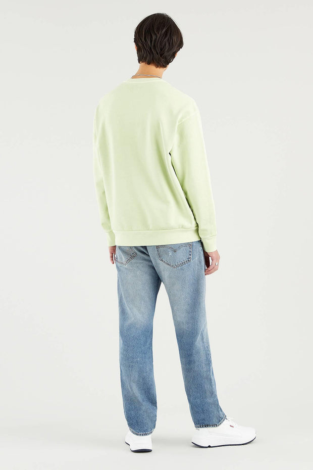 Relaxed Crewneck Sweater - Shadow Lime