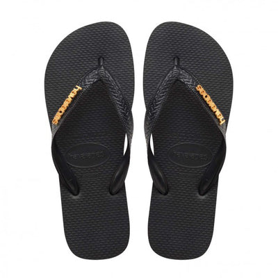 Logo Metallic - Black/Gold | Shop Havaianas online at Ikon Arrowtown