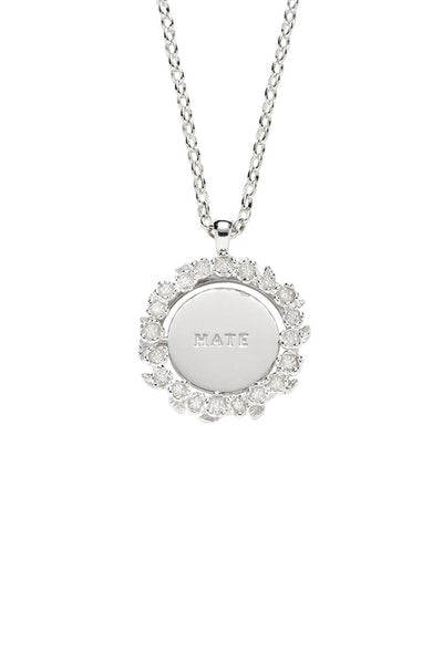 KW Love/Hate Mood Pendant Silver