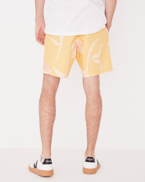 Mens Ocean Swim Short - Tulip Print