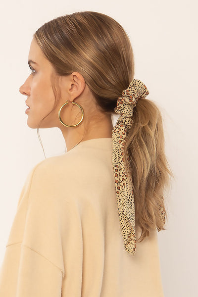Swept Away Scrunchie Scarf - Natural