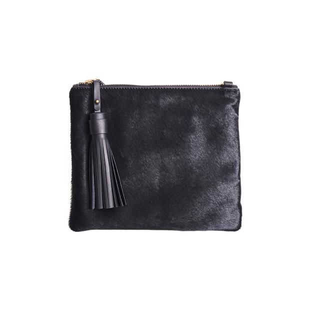 Mickey Clutch Black Hide 2 | Shop Vash Bags online at ikonnz.com, NZ