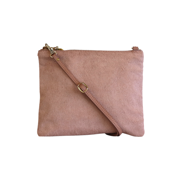 Mickey Clutch Pink Hide | Shop Vash Bags online at ikonnz.com, NZ
