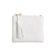 Mickey Clutch White Croc | Shop Vash Bags online at ikonnz.com, NZ