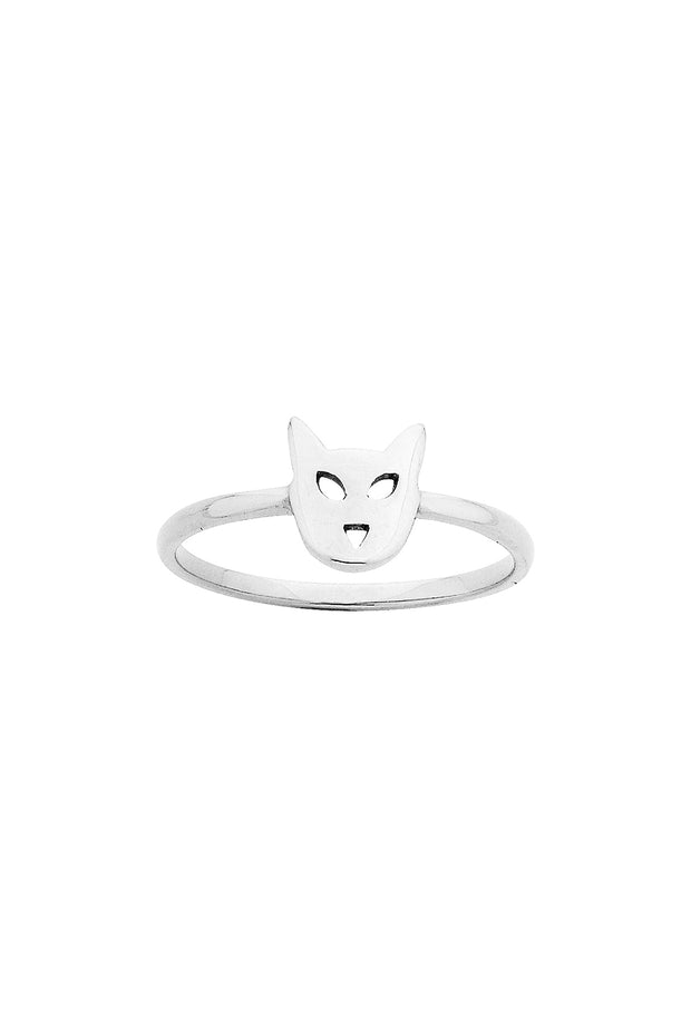 Mini Cat Ring - Silver