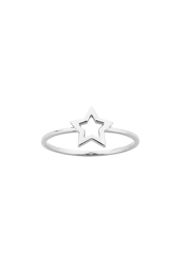 Karen Walker Mini Star Ring Silver