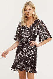 Mosaic Flutter Sleeve Frill Dress | Shop Cooper St at IKON NZ