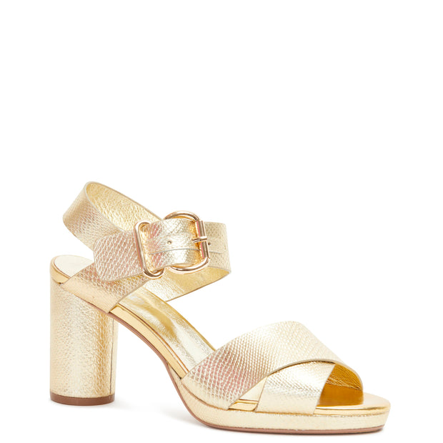 Ginger Heel - Gold Snake