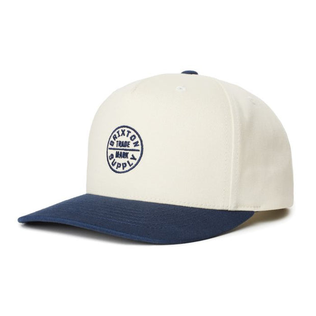 Brixton Oath 110 MP Snapback - Dove/Washed Navy