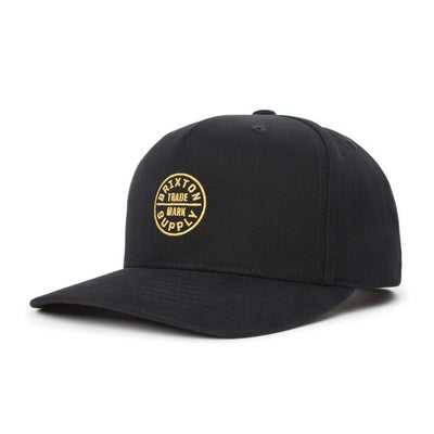 Brixton Oath 110 MP Snapback - Black shop online or in store at IKON