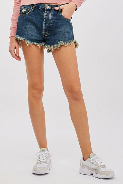 Outlaws Denim Shorts - Dirty Indigo