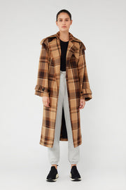 C&M Alto Check Trench - Camel Check | Shop C&M Camilla and Marc at IKON NZ