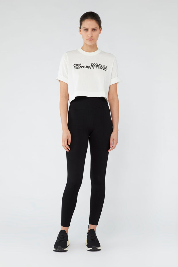 C&M Amelia Crop Logo Tee | Shop C&M Camilla and Marc at IKON NZ