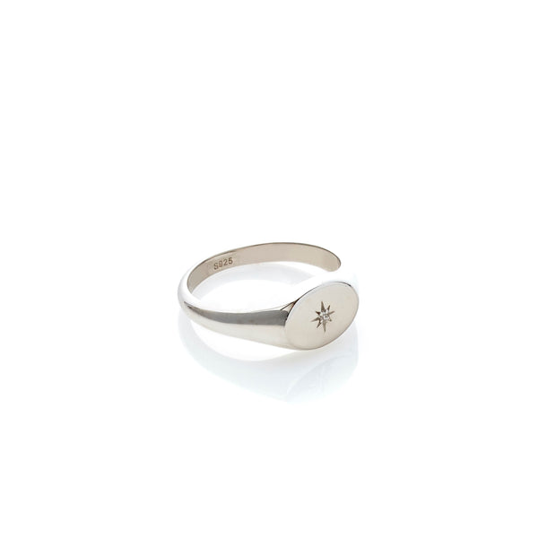 Guiding Star Signet Ring | Shop Silk and Steel Jewellery at IKON