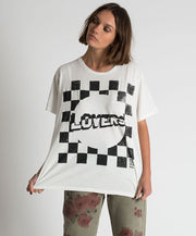 Lovers Boyfriend Tee White/Black | Shop OneTeaspoon at IKON NZ