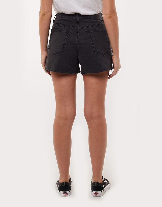 Brooklyn Cut Off Short - Washed Black