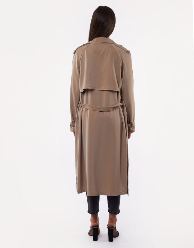 Jorge Juliana Trench Coat - Tan | Shop Jorge at IKON Arrowtown in NZ