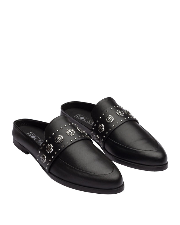 Tuesday Slide - Black Western Stud