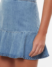 Havana Flippy Denim Skirt - Blue
