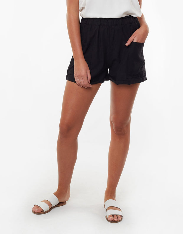 Utility Paperbag Short - Black | Shop All About Eve at IKON NZ