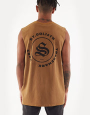 Split Muscle Tank - Tan