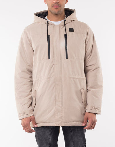 Regiment Hooded Jacket - Bone | Shop St Goliath Clothing at ikonnz.com NZ