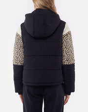 Distinct Panel Puffer Jacket