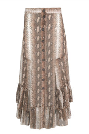 Cooper Frill Me On Skirt - Brown Snake
