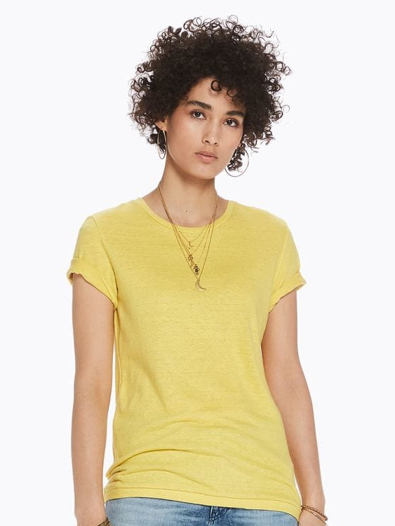 Womens Relaxed Fit SS Tee - Cheddar | Scotch and Soda SHOP at IKON