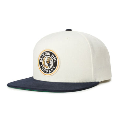 Brixton Rival Snapback - Dove/Washed Navy