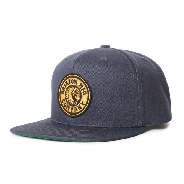 Brixton Rival Snapback - Navy/Gold | Shop at IKON