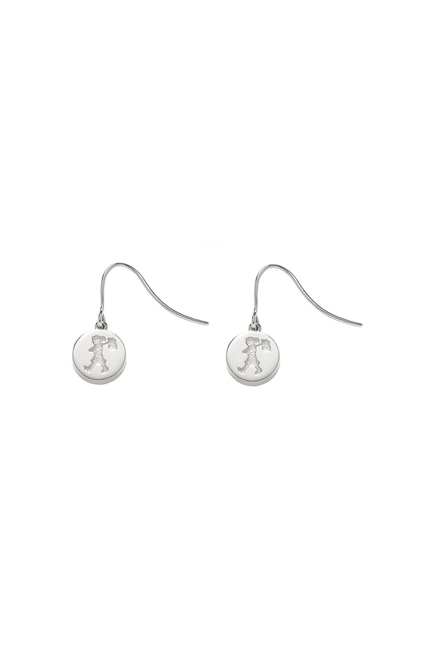 KW Runaway Stamp Earrings Silver
